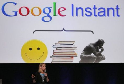 The launch event for Google Instant