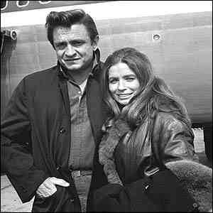 A Pciture Of Johnny Cash With His Wife, June Carter.