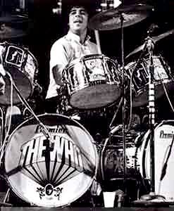 Keith Moon Playing His Customized Premier Drum Kit