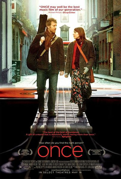 """Once"" Stars Glen Hansard And Marketa Irglova. The Movie Was Released In 2007, And It Was Written And Directed By John Carney."