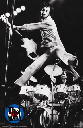 Pete Playing With The Who In 1972. His Leaps Were A Trademark Move Along With His Windmills.
