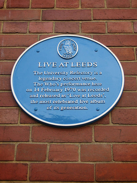 Plaque at Leeds