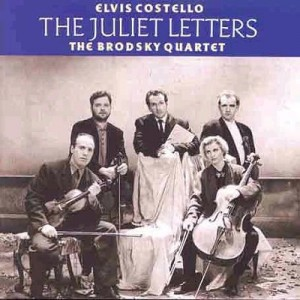 Elvis Costello Posing With The Brodsky Quartet