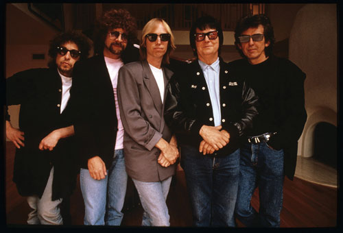 The Traveling Wilburys: Bob Dylan, Jeff Lynne, Tom Petty, Roy Orbison & George Harrison