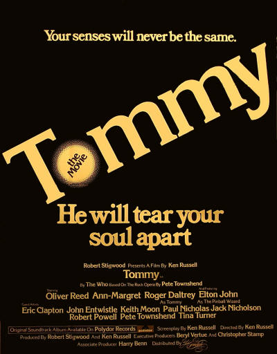 "Another Poster For The ""Tommy"" Movie."