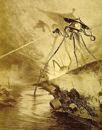 "A Tripod From ""The War Of The Worlds"" Raising Havoc"