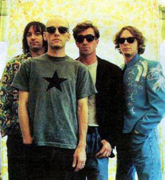 A 90s Picture Of R.E.M. Featuring Michael Stipe, Peter Buck, Mike Mills & Bill Berry