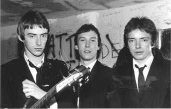 The Jam Were Characterized By Wearing Black Suits When They First Started. Left To Right: Paul Weller, Rick Buckler & Bruce Foxton.